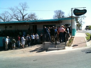 Line at Franklin Barbecue